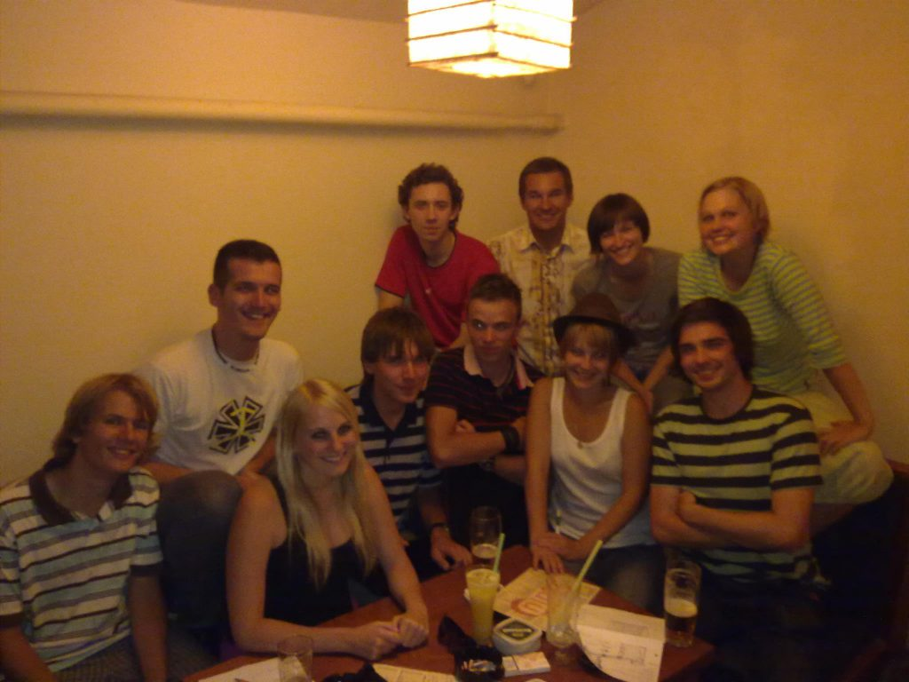 Schůzka 1. organizátorského týmu Seznamováku FIT vsrpnu 2011