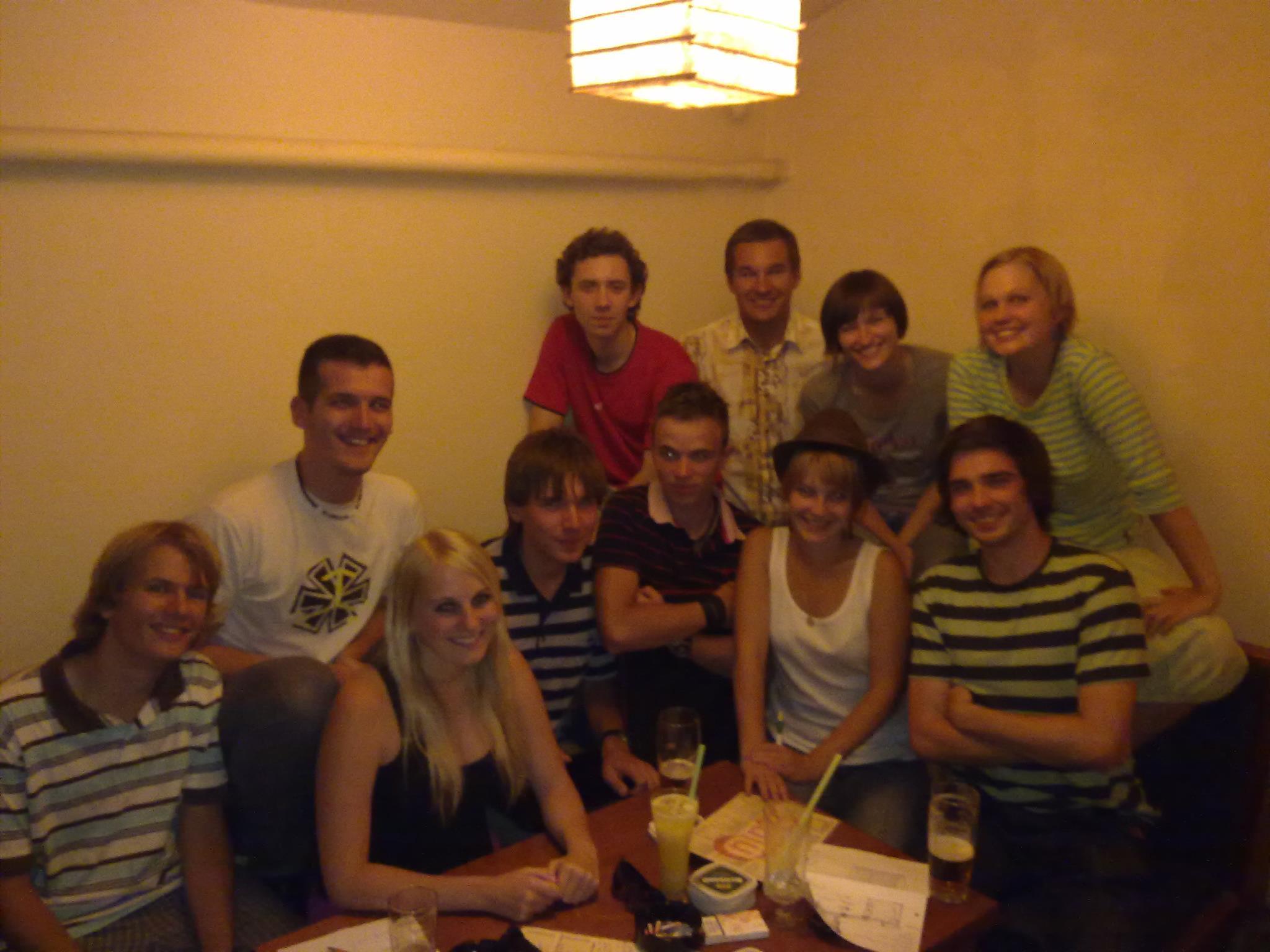 Schůzka 1. organizátorského týmu Seznamováku FIT v srpnu 2011