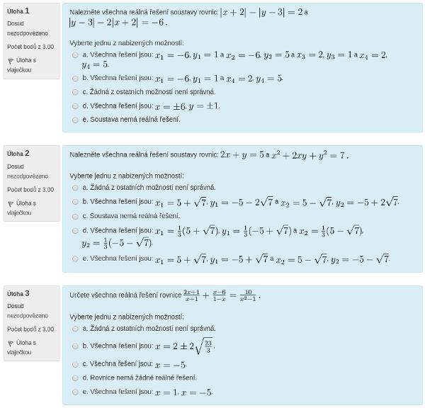 V přípravném e-learningu si můžeš procvičit příklady, které jsou typově stejné jako u přijímací zkoušky.