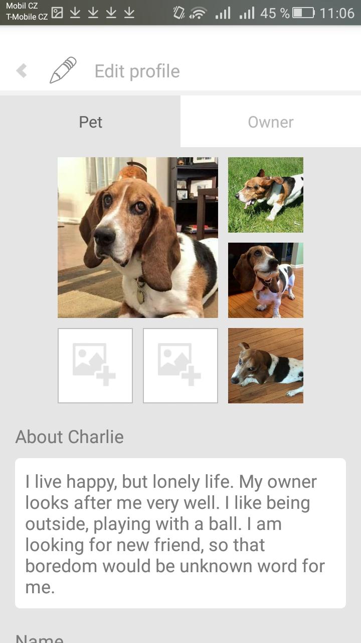 charlie seznamovací profil