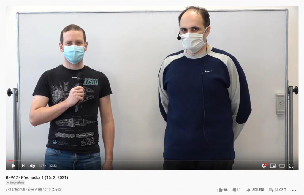 BI-PA2 přednáška na YouTube